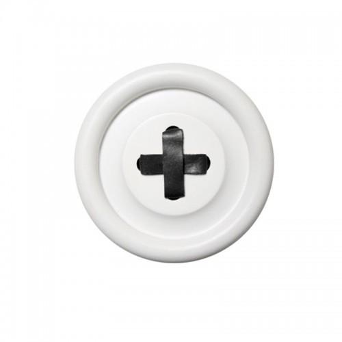 Perchero Button, Blanco