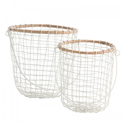 Set cestas Wire, blanco