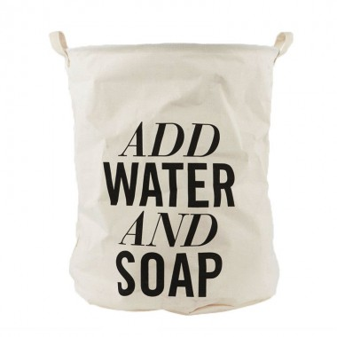 "Bolsa ropa sucia, ""Add water and soap"""