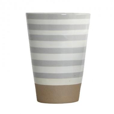 Taza Stripe, pintada a mano