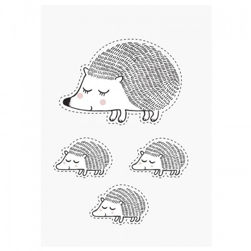 Pegatina pared, Hedgehog