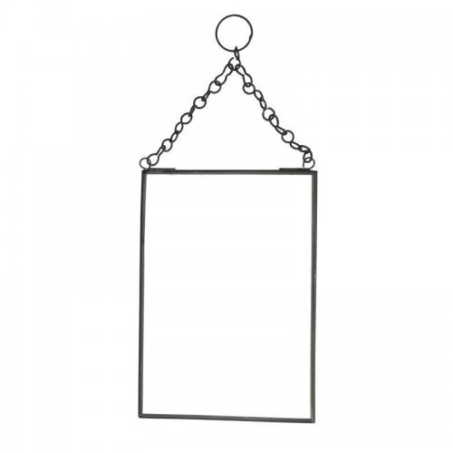 Espejo rectangular, negro