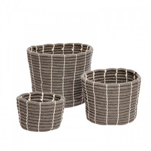 Set cestas Sharp round, gris
