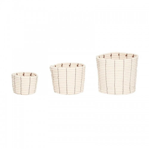 Set cestas Sharp round, beige
