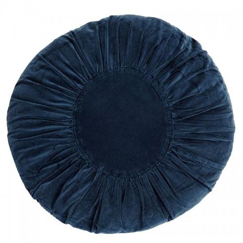 Cojín Velvet, azul marino