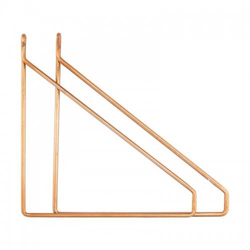 Set soportes estantes, Apart latón