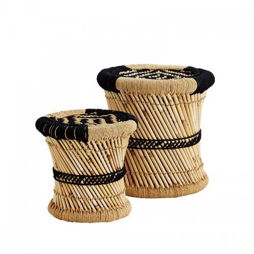 Set taburetes bambú, Nova black