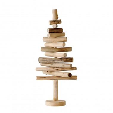 Árbol de navidad, troncos madera