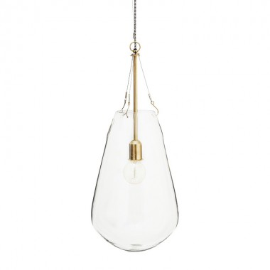 Lámpara Dione L, bronce