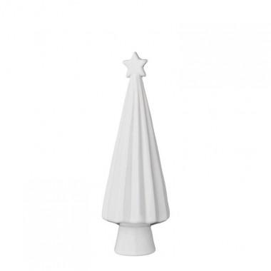 Árbol de navidad, blanco porcelana S