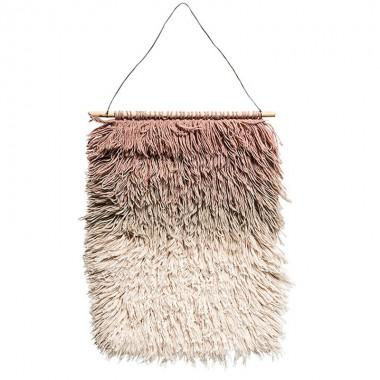 Macramé pared Wool, rosa