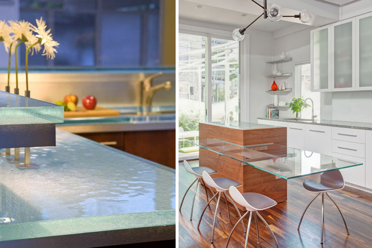 8 materiales para la encimera de la cocina - Encimeras de cocina de cristal ...