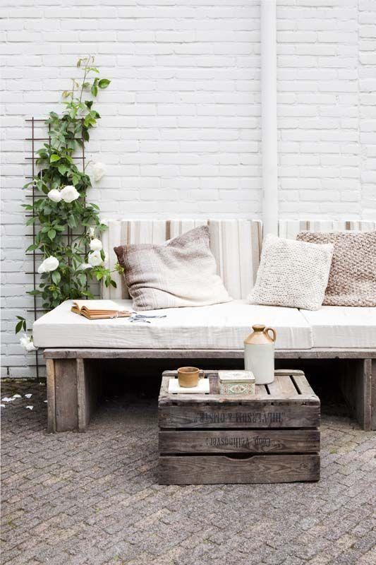 Muebles de exterior low cost con pallets para la terraza - Muebles exterior palets ...