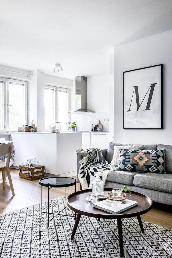Ideas para decorar la pared encima del sof for Colocar cuadros encima del sofa