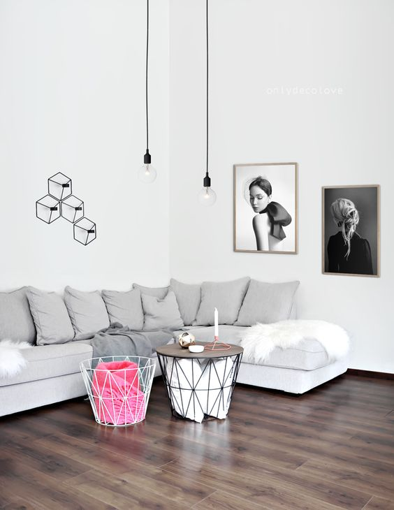 Ideas para decorar la pared encima del sof for Como decorar pared salon
