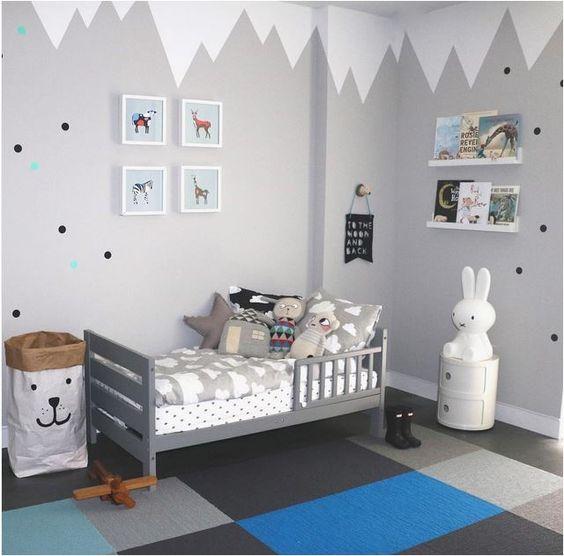 Paredes con mucha magia para habitaciones infantiles - Pintura para habitacion ...