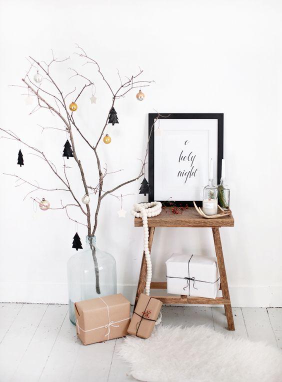 Inspiración: Troncos para nuestro árbol de Navidad más nórdico