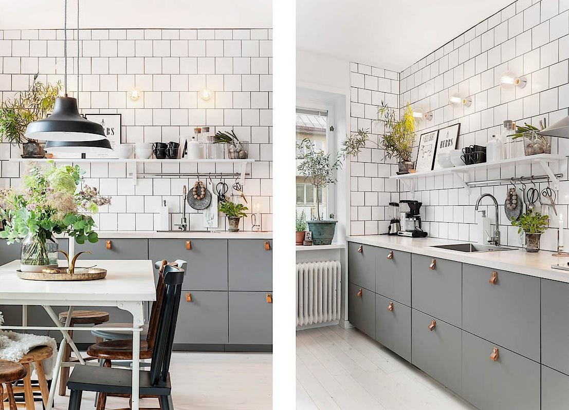 Una gran cocina en un apartamento mini con mucho estilo for Cocina sin azulejos