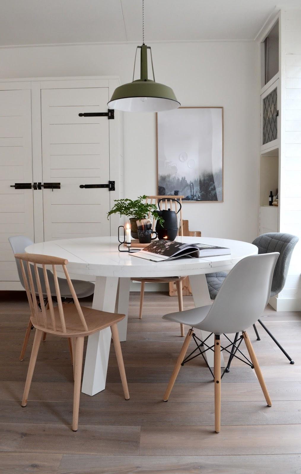 Dime qu mesa redonda tienes y te dir qu mix de sillas elegir - Mesa de cocina redonda ...