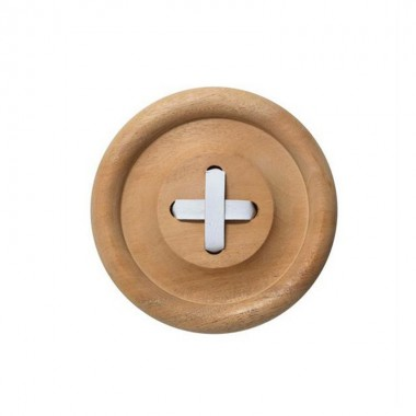 Perchero Button Madera, grande
