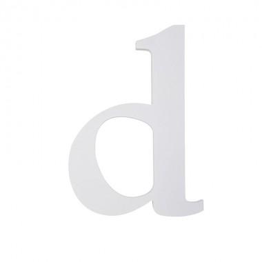 """Letra """"D"""", madera blanco"""