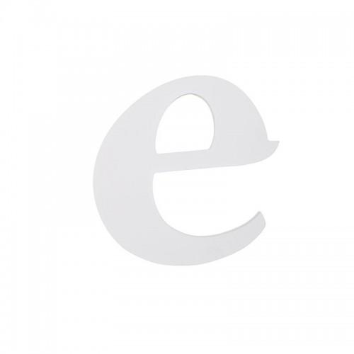 "Letra ""E"", madera blanco"