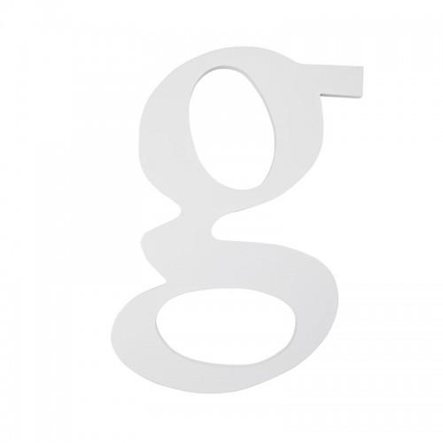 """Letra """"G"""", madera blanco"""