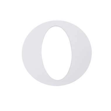 "Letra ""O"", madera blanco"