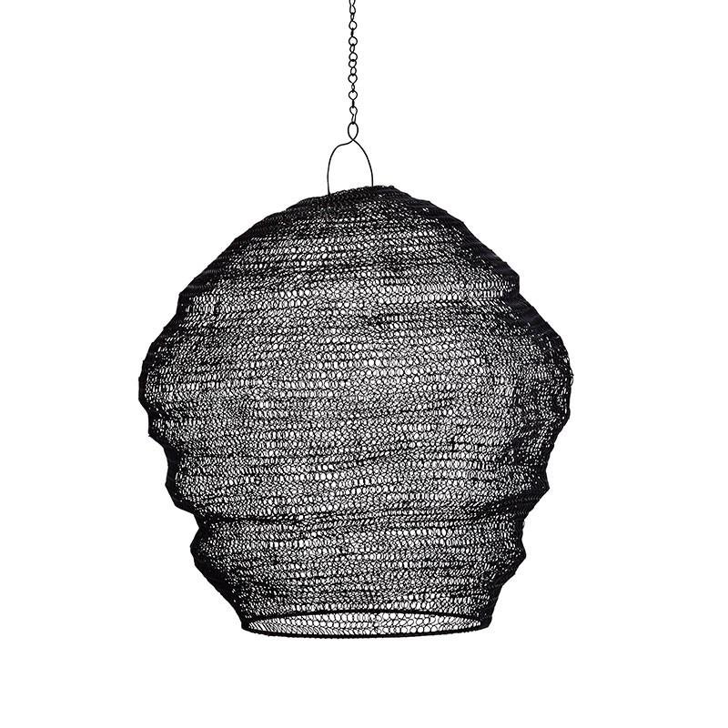 Pantalla lámpara Shiny, negro
