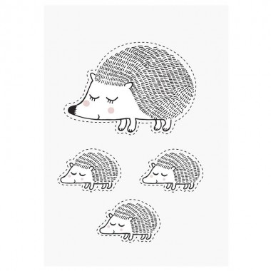 Pegatina pared, Hedgehog
