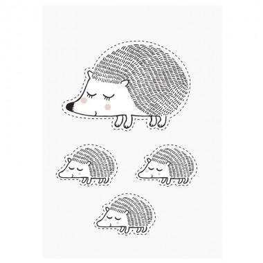 Pegatina pared Hedgehog