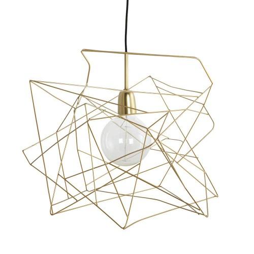 Pantalla de lámpara asimétrica, dorada