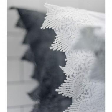 Funda cojín Lace 50x60cm, blanco