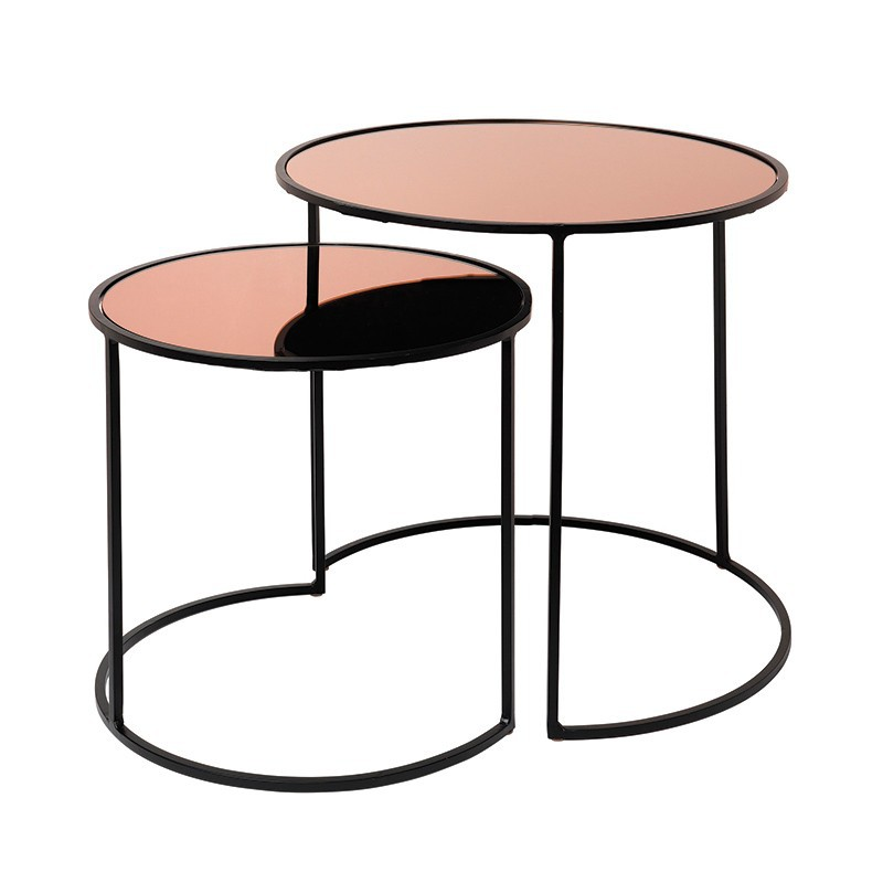 Set mesa auxiliar Stends, rosa