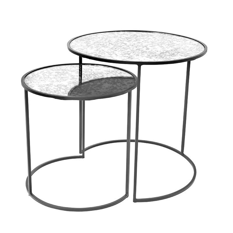 Set mesa auxiliar Stends, negro