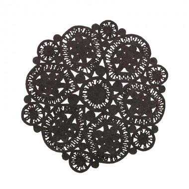 Alfombra Crochet, negro