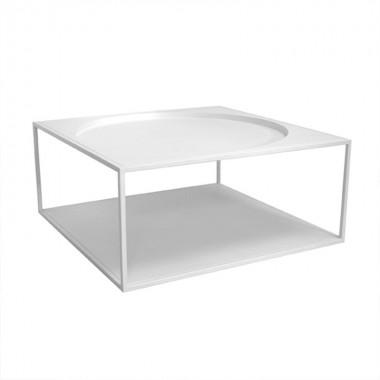 Mesa Mett, blanca