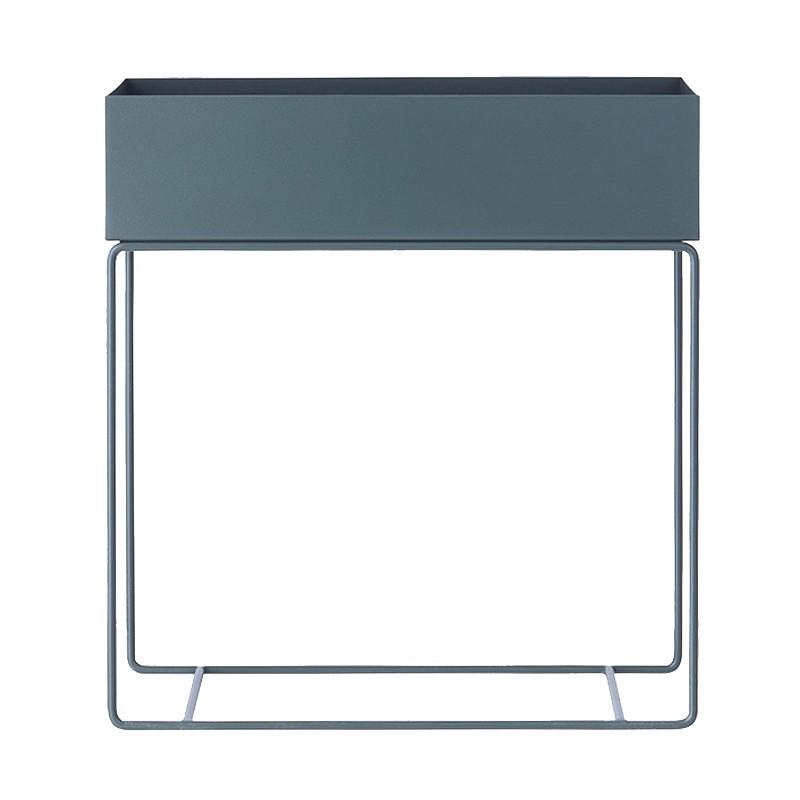 Macetero Box, gris oscuro