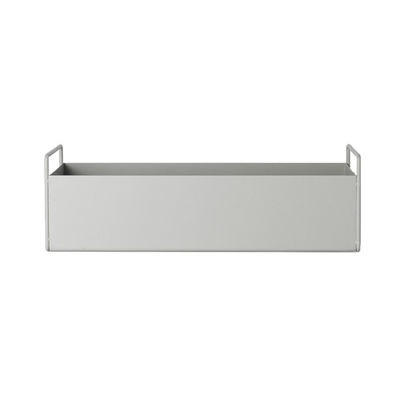 Macetero Box, gris claro S