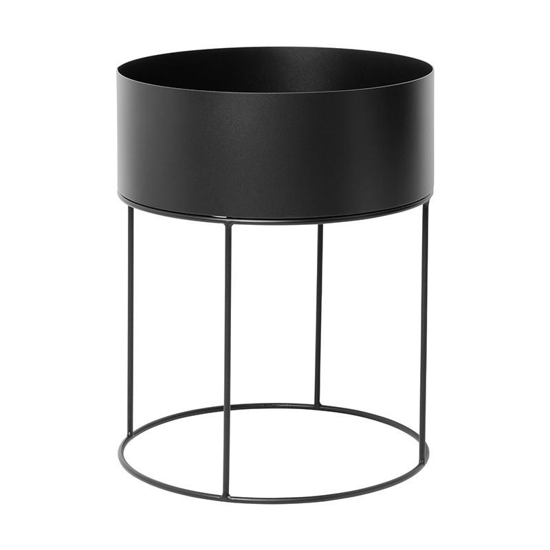Macetero Round, negro