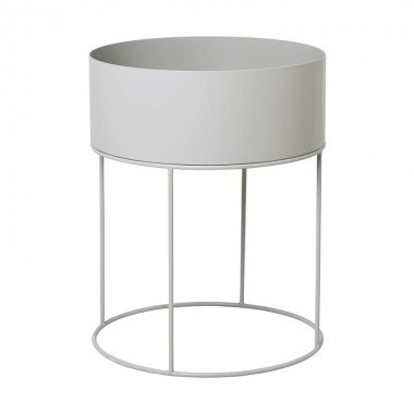 Macetero Round, gris claro