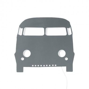 Aplique Bus, gris oscuro