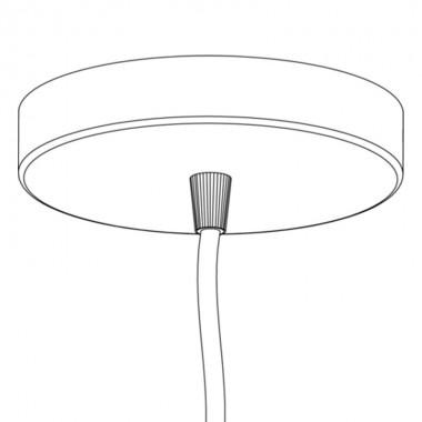 Cable lámpara techo Rosette, negro