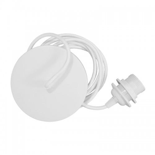 Cable lámpara techo Rosette, blanco