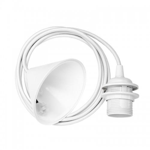Cable lámpara techo Conic, blanco