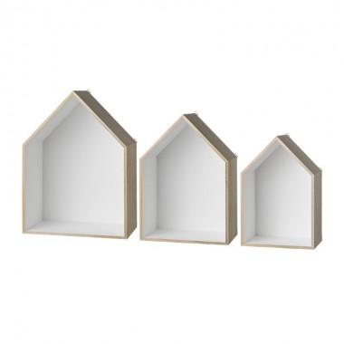 Set cajas casa librería blanco