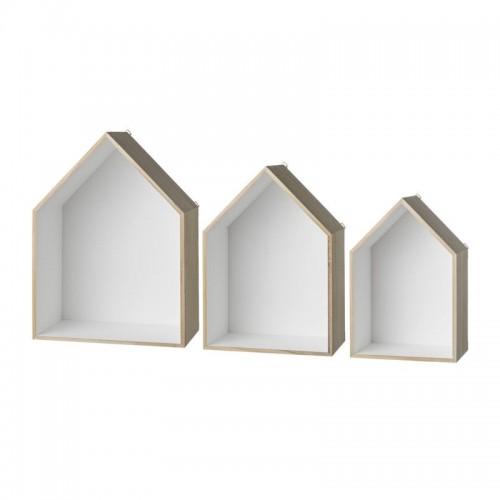 Set cajas casa librería, blanco