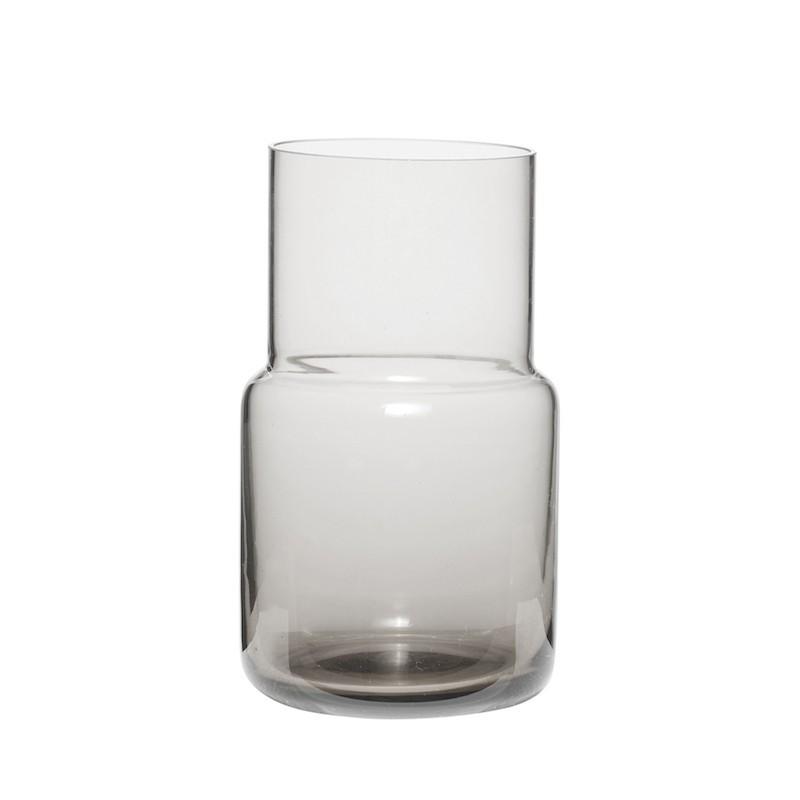 Jarrón cristal, gris
