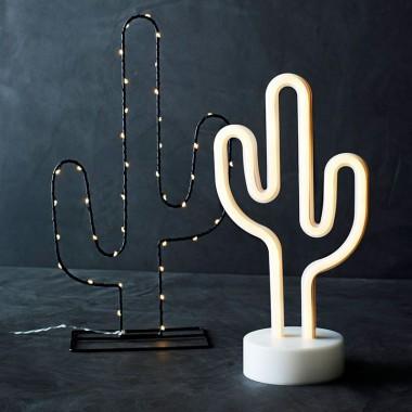 Lámpara decorativa Cactus, negro