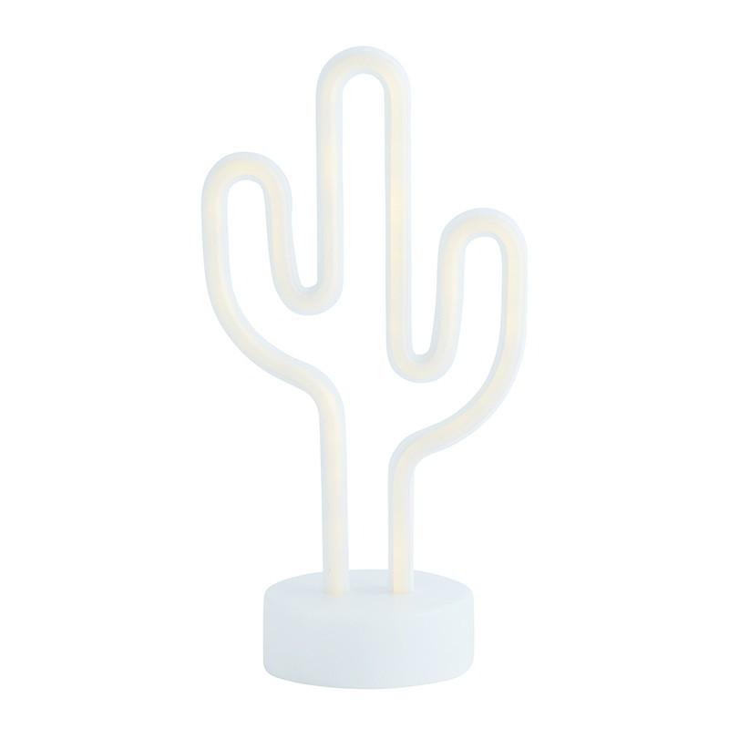Lámpara decorativa Cactus, blanco
